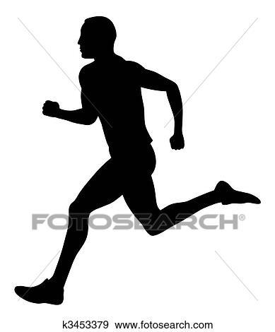 Läufer  Clipart - läufer, symbol, /, logo k3536981 - Suche Clip Art ...