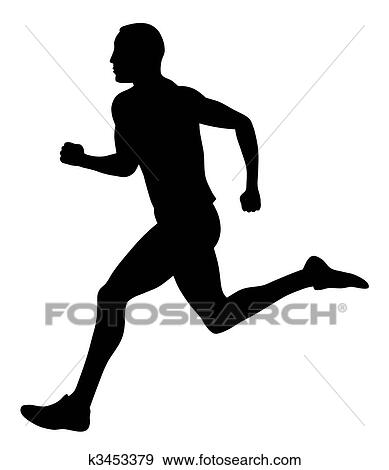 clip art of runner k3453379 search clipart illustration posters rh fotosearch com clip art runners free clipart running man