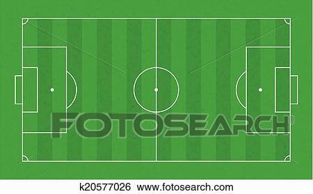 Grass Soccer Field Vector Textured Grass Soccer Field