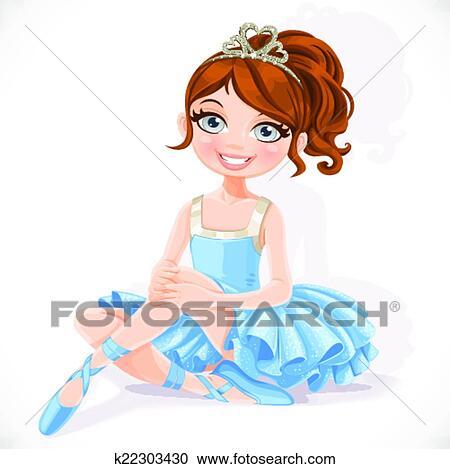 Clipart of Cute little ballerina girl in tiara and tutu ...   Ballerina Tiaras Cartoon