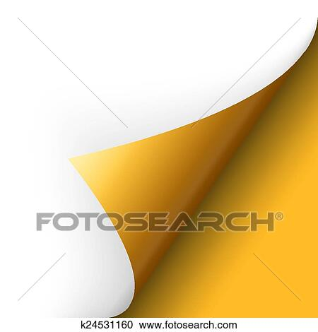 Clipart papier boden ecke gelb k24531160 for Boden clipart