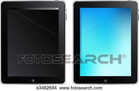 clipart tablette toucher informatique k3462694 recherchez des clip arts des illustrations. Black Bedroom Furniture Sets. Home Design Ideas