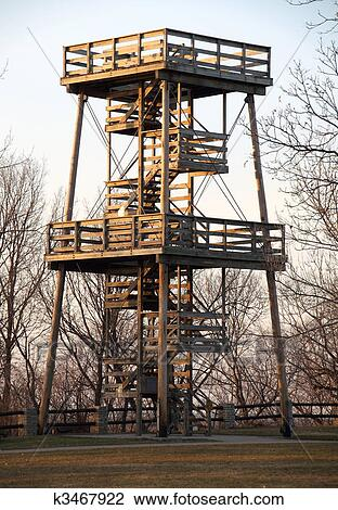 Stock photo of fire watch tower k3467922 search stock for Fire tower plans