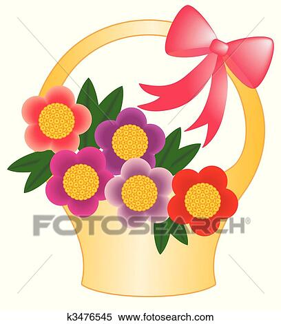 Clipart of Basket flower k3476545 - Search Clip Art ...
