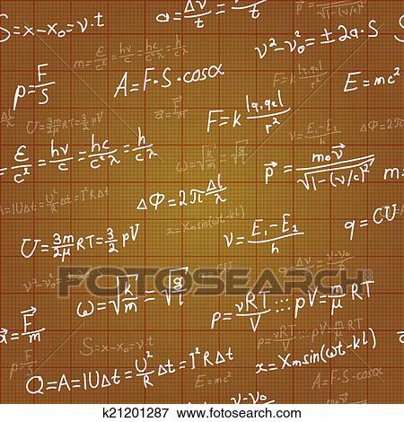 Clip art of physics formulas vector seamless pattern on brown clip art physics formulas vector seamless pattern on brown blueprint vector fotosearch malvernweather Gallery