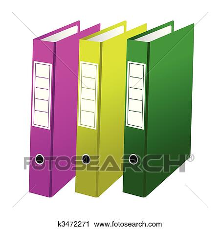 clipart of three office folders k3472271 search clip art rh fotosearch com folder clip art free folder clip art transparent