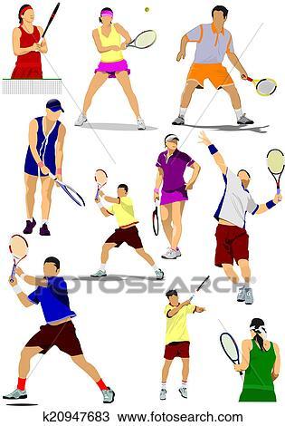 Billedresultat for tennis spiller tegning