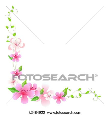 Pink flower Illustrations and Clipart. 30,309 pink flower royalty ...