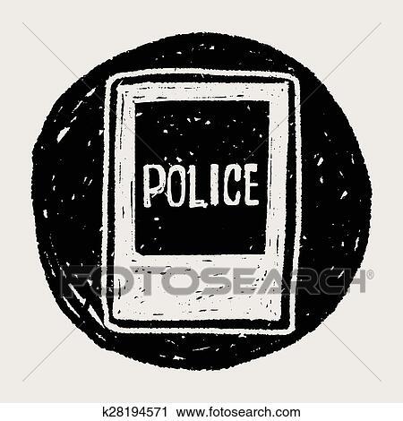 Polizeiwache clipart  Clipart - polizeiwache, gekritzel k28194571 - Suche Clip Art ...