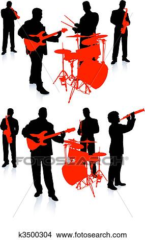 Clipart of Live Music Band Collection k3500304 - Search Clip Art ...