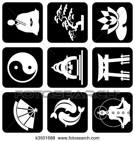 clip art religi ses buddhismus zeichen k3501688 suche clipart poster illustrationen. Black Bedroom Furniture Sets. Home Design Ideas