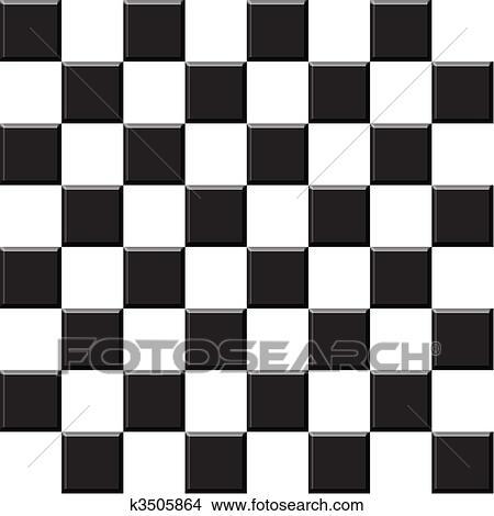 그림 - 체스, 일시보관자, 타일 k3505864 - 클립 아트 ...