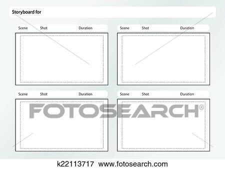 Clip Art Of Storyboard Template X4 K22113717 Search Clipart