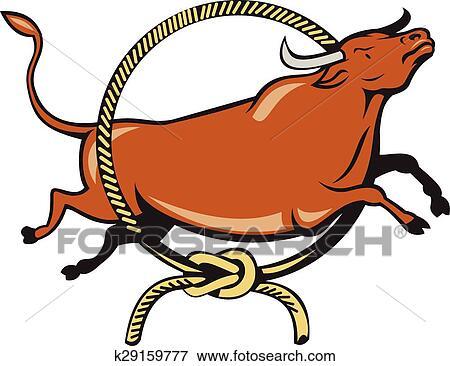 clip art of texas longhorn red bull jumping lasso cartoon rh fotosearch com university of texas longhorn clipart university texas longhorn clipart free