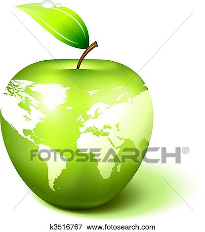 Clip art of apple globe with world map k3516767 search clipart clip art apple globe with world map fotosearch search clipart illustration posters gumiabroncs Image collections