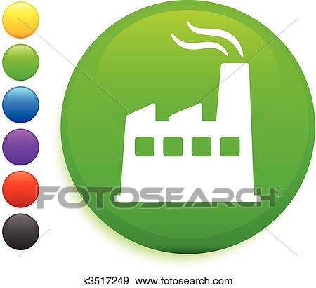 clip art of factory icon on round internet button k3517249 search rh fotosearch com internet clipart images intranet clip art