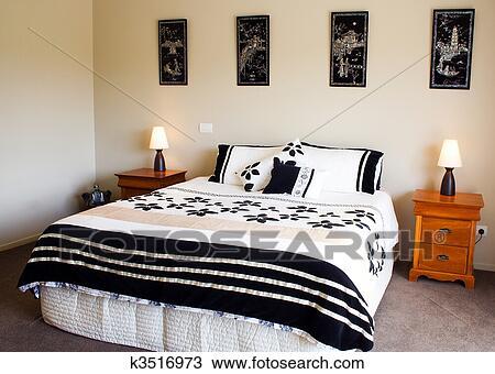 Stockfoto   moderne, soveværelse, interior k3516973   søg i ...