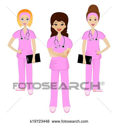 Group Of Doctors Clipart Clip Art of group youn...