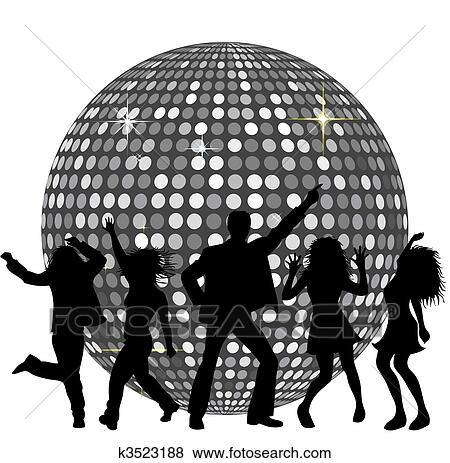 stock illustration of disco ball and dancing people disco ball clip art image disco ball clip art outline