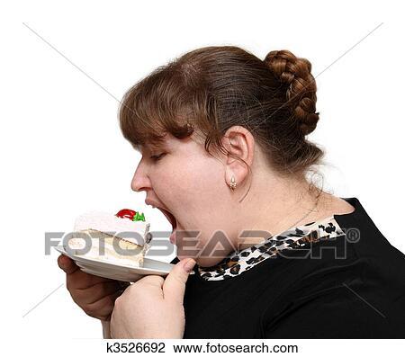 Толстый человек ест торт фото