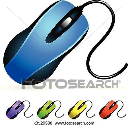 Clipart souris ordinateur ensemble k3529388 - Souris ordinateur dessin ...