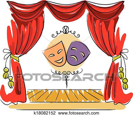 Clipart of theater stage vector illustration k18082152 - Dessin de theatre ...