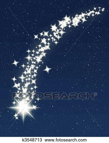 Clipart of blue shooting star k3548713 - Search Clip Art ...
