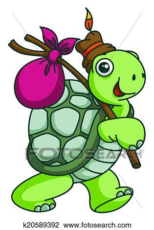 Clipart aventure tortue rigolote dessin anim - Image tortue rigolote ...