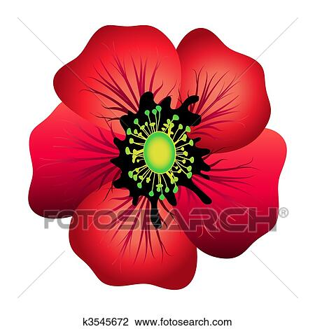 Clip Art Poppy Clip Art red poppy clip art vector graphics 2161 eps clipart isolated
