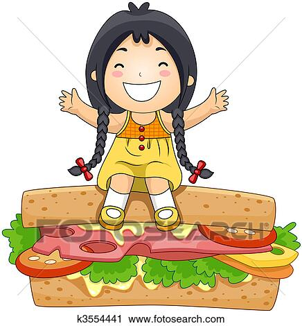 Stock Illustration of Sandwiches k0081405 - Search Clipart ...