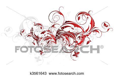 手绘图 - 植物群