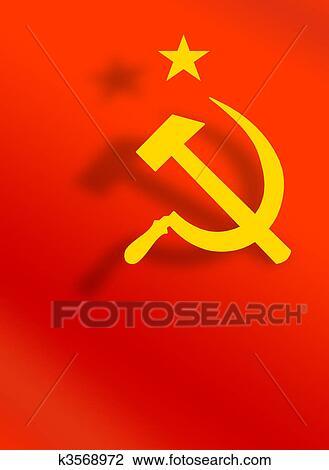 Clip Art Of Symbols Of Soviet Union K3568972 Search Clipart
