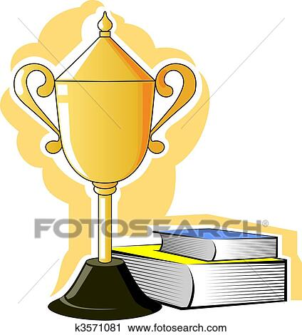 Clipart of Prize and books k3571081 - Search Clip Art ...