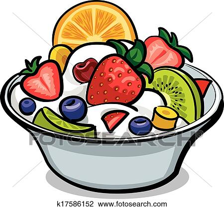 clipart of fresh fruit salad k17586152 search clip art rh fotosearch com Animated Fruit Salad fruit salad clipart free