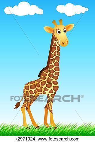 Dessins rigolote girafe dessin anim k2971924 - Girafe rigolote ...