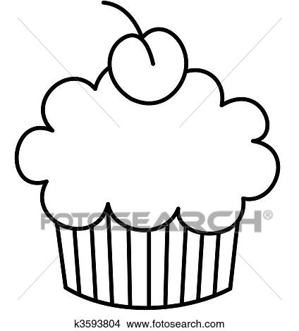 Small Cupcakes Drawings Drawing Cupcake With a