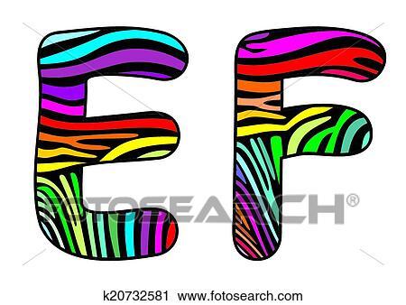 clipart of background skin zebra letter e f k20732581 search clip rh fotosearch com