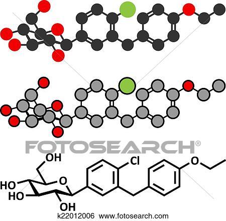 clip art of dapagliflozin diabetes drug molecule inhibitor of rh fotosearch com American Diabetes Association Logo Clip Art Diabetes Education