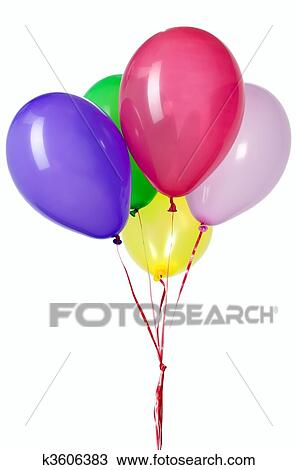 Stock photo of balloon with red string for party for Balloon string decorations