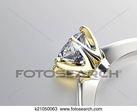 手绘图 - 金色, 约会圆环