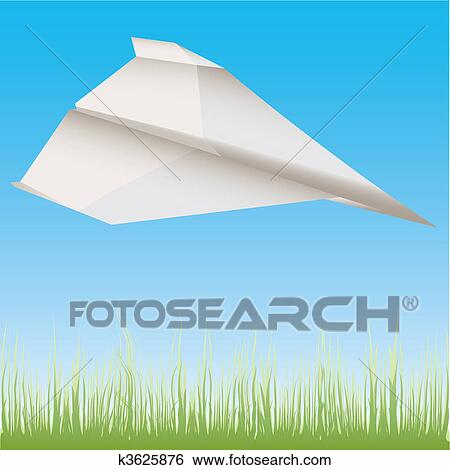 paper plane stock illustration - photo #1