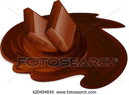 clipart fondre chocolat barres chocolat cr me et b tons blanc fond vecteur. Black Bedroom Furniture Sets. Home Design Ideas