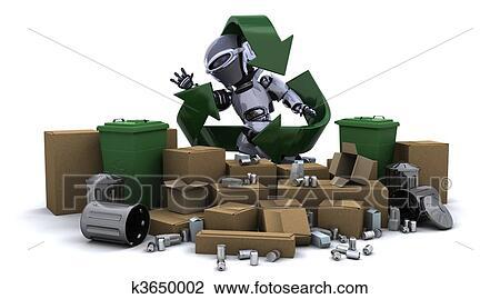 clipart robot d chets m nagers k3650002 recherchez des cliparts des illustrations des. Black Bedroom Furniture Sets. Home Design Ideas