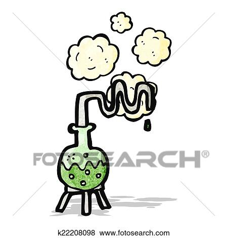 clip art of cartoon science experiment k22208098 search clipart rh fotosearch com science experiment clipart