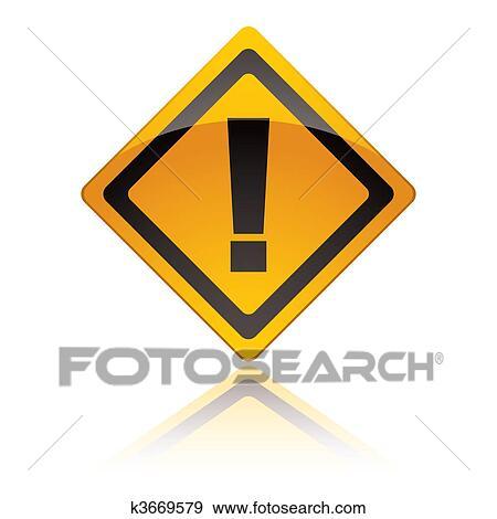 clipart panneau avertissement ic nes exclamation k3669579 recherchez des cliparts des. Black Bedroom Furniture Sets. Home Design Ideas