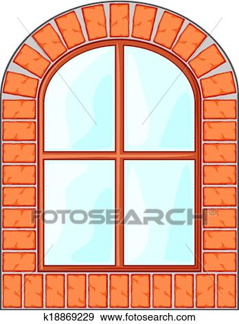 clip art of wooden window on brick wall k18869229 search clipart rh fotosearch com brick wall clipart green clipart brick wall black and white