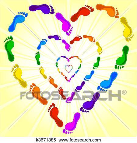 Clipart cuore fatto con il ingombri k3671885 cerca for Clipart cuore