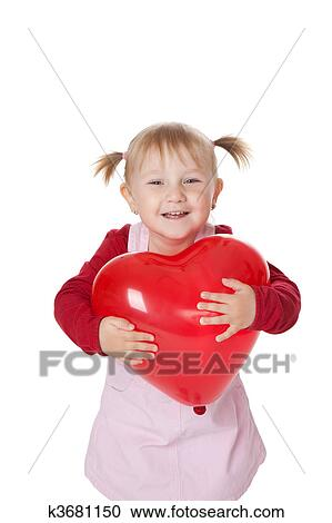 Stock fotografie klein meisje en ballon k3681150 zoek stockfoto 39 s beelden muurkunst - Foto slaapkamer klein meisje ...