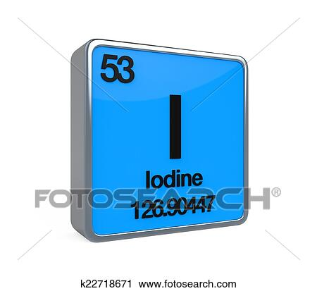 Clipart of iodine element periodic table k22718671 search clip art iodine element periodic table isolated on white background 3d render urtaz Choice Image