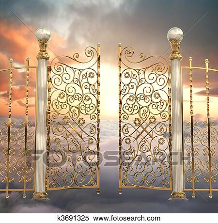 Stock Illustration of Pearly Gates k3691325 - Search ... Pearly Gates Of Heaven Clipart